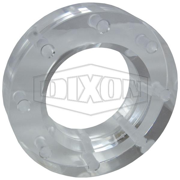 TTMA Flanged Acrylic Sight Flow Indicator - Optically Enhanced Sight Glass