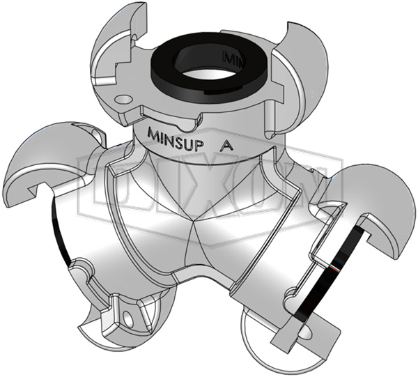 Minsup A Type Bellows Seal Three Way Connector