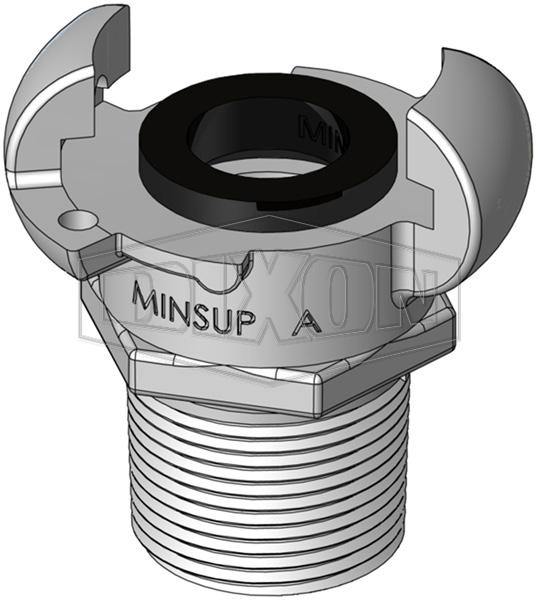 Minsup A Type Bellows Seal Male BSP End