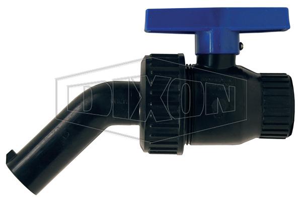 Polypropylene 45° Single Union Nozzle Valve