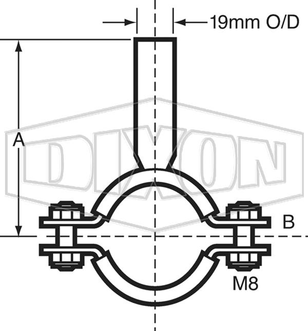 Pipe Hanger Saddle Clip