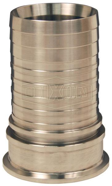 Dixon® Sanitary Style Crimp Stem Clamp End x Hose Shank