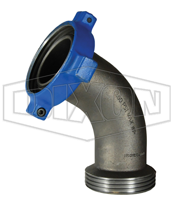 One-Piece Female x Male Hammer Union 45° Elbow Adapter
