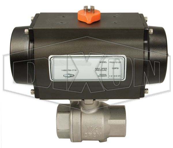 BV2HG Series Pneumatically Actuated Stainless Steel Ball Valves 2-Piece